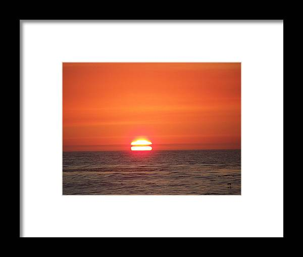 Sunsets Framed Print featuring the photograph Red Skies At Night by Maggie Cruser
