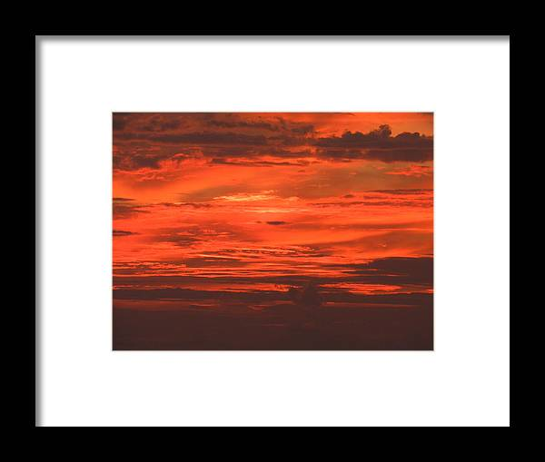 Sun Set Over Longboat Key Framed Print featuring the photograph Red Sky At Night by Peter Shaw