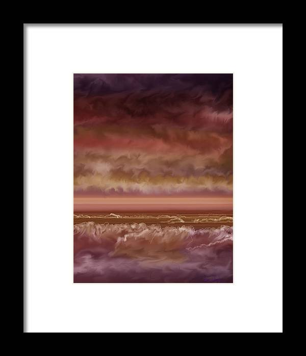 Sunset Framed Print featuring the painting Red Sky At Night Sailor Delight by Anne Norskog