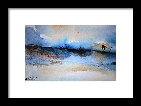 Beach Framed Print featuring the painting Red Sun Beach by Neva Rossi