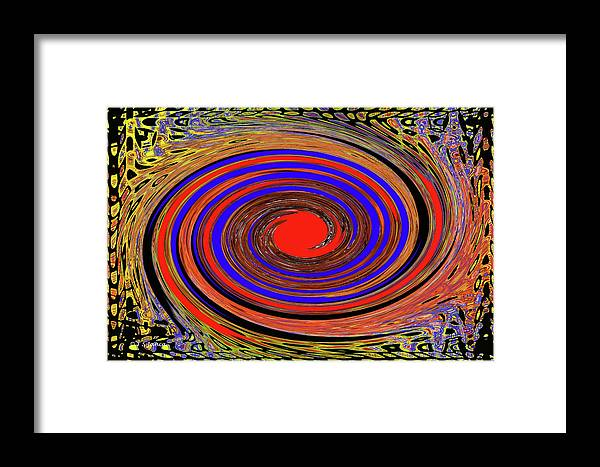 Red Sun Framed Print featuring the digital art Red Sun by Tom Janca