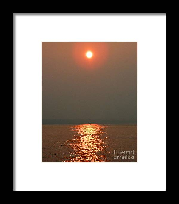 Red Sunset Framed Print featuring the photograph Red Sunset by Anne McDonald
