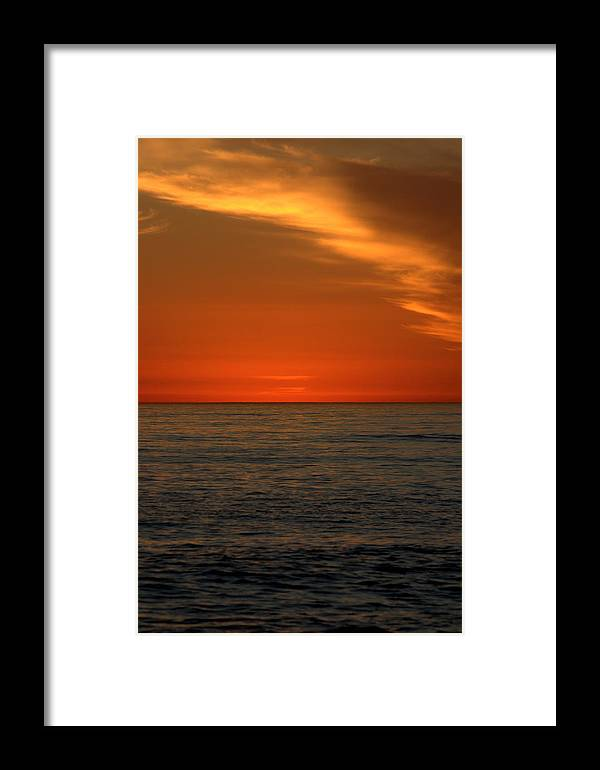 Sunset Framed Print featuring the photograph Red Sunset by Brad Scott