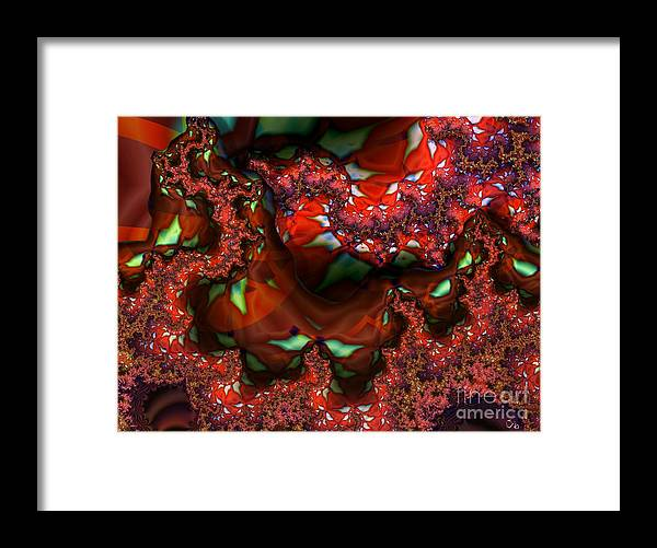 Berry Framed Print featuring the digital art Red Thread by Ron Bissett
