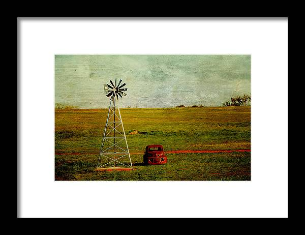 Vintage Truck Photograph Framed Print featuring the photograph Red Truck Red Dirt by Toni Hopper