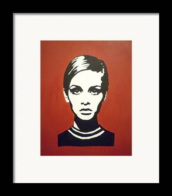 Twiggy Framed Print featuring the painting Red Twiggy by Ruth Oosterman