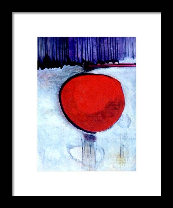 Red Framed Print featuring the painting Red Twin Jump Start by Marlene Burns
