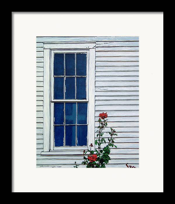 Painting Framed Print featuring the painting Red White And Blue by Peter Muzyka