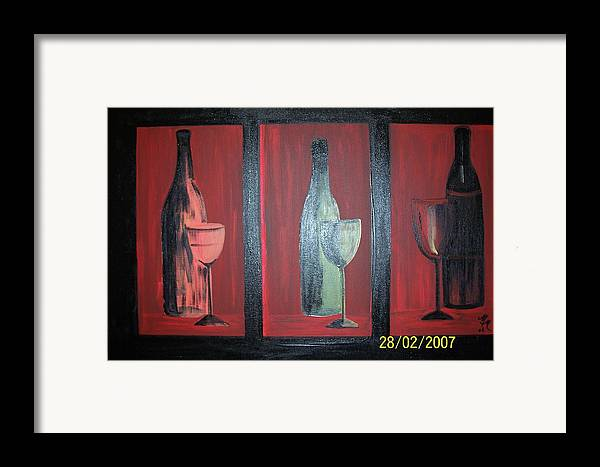 Stilllife Framed Print featuring the print Red Wine by Martha Mullins