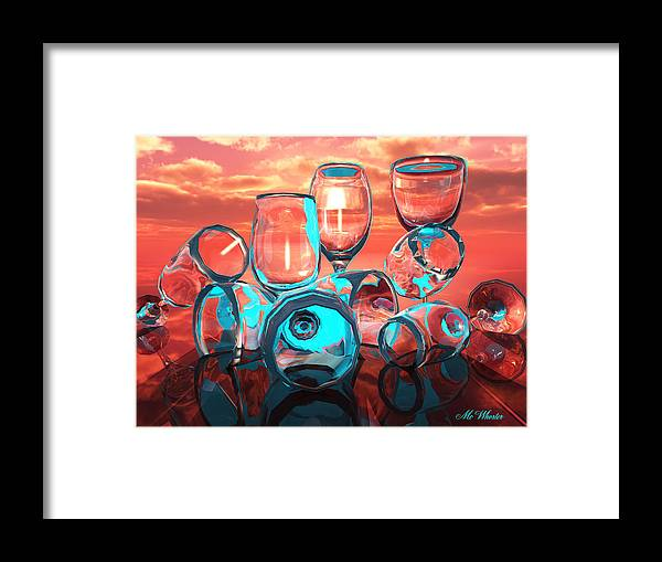 3d Framed Print featuring the painting Merlot by Williem McWhorter