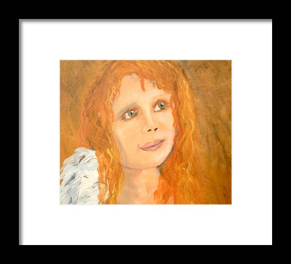 Angels Framed Print featuring the painting Red Wishes by J Bauer