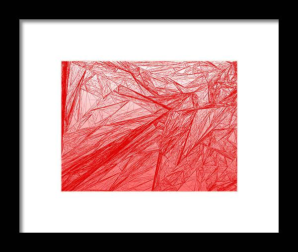 Rithmart Framed Print featuring the digital art Red.285 by Gareth Lewis
