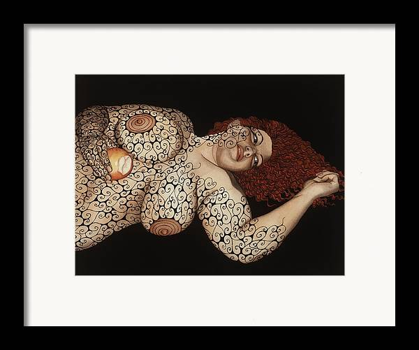 Figurative Framed Print featuring the painting Redemption by Tina Blondell