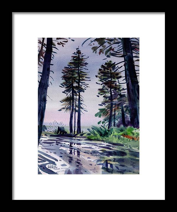 Redwoods Framed Print featuring the painting Redwood Reflections  by Donald Maier