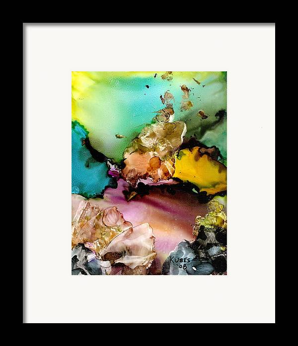 Reef Framed Print featuring the mixed media Reef 3 by Susan Kubes