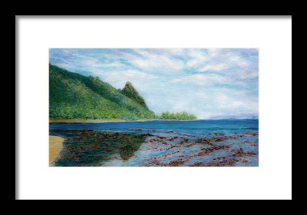 Rainbow Colors Pastel Framed Print featuring the painting Reef Walk by Kenneth Grzesik
