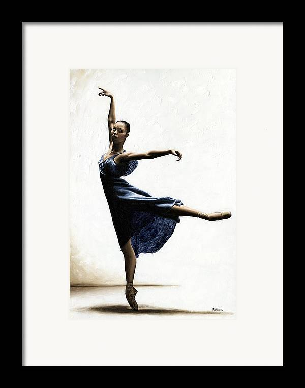Dancer Framed Print featuring the painting Refined Grace by Richard Young