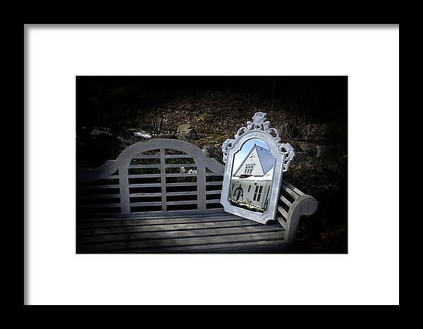Mirror Framed Print featuring the photograph Reflecting On The Past by LuAnn Griffin