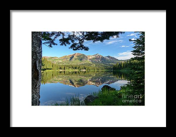 Lake Framed Print featuring the photograph Reflecting On The Ruby Range by Dusty Demerson