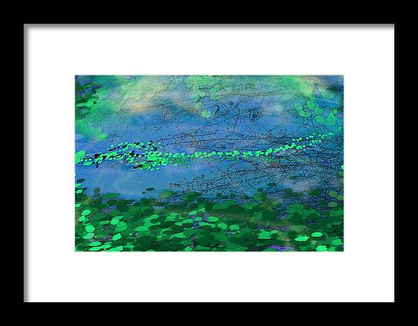 Victor Shelley Framed Print featuring the digital art Reflecting Pond by Victor Shelley