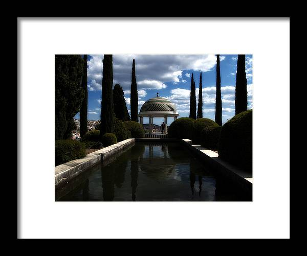 Malaga Framed Print featuring the photograph Reflecting Pool by Obi Martinez