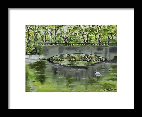 River Framed Print featuring the photograph Bridge Over The River by Jim McGraw