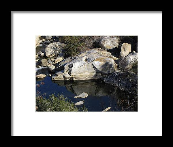Sequoia National Park Framed Print featuring the photograph Reflecting Rock-sequoia National Park by DEBRON Art
