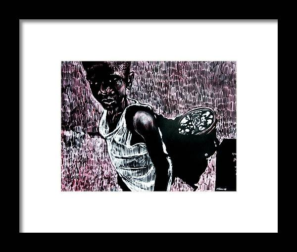 Portrait Framed Print featuring the mixed media Reflection by Chester Elmore