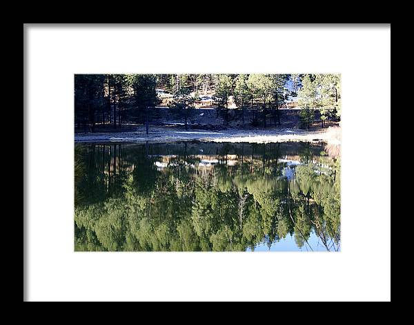 Lake Framed Print featuring the photograph Reflection Cove by Jon Rossiter