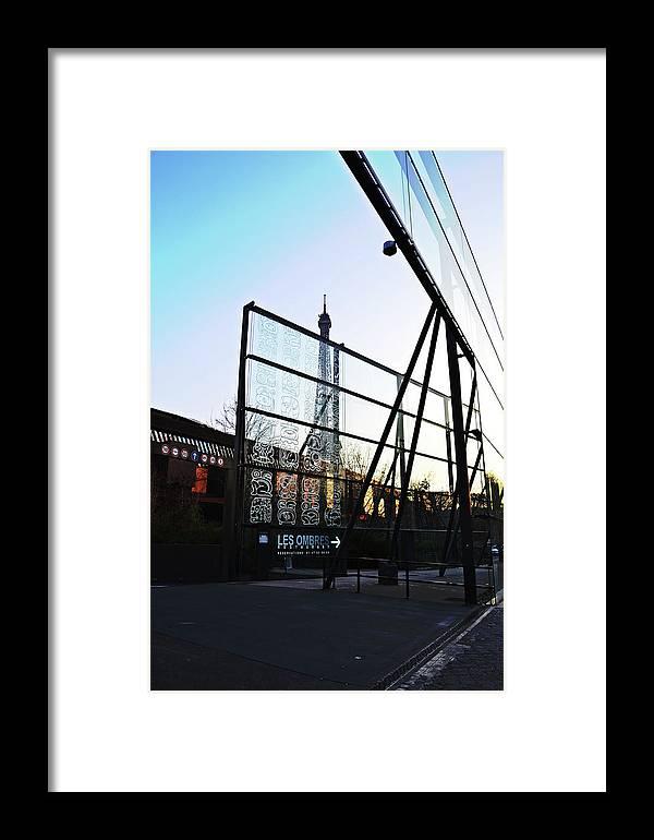 Reflection Framed Print featuring the photograph Reflection Eiffel Paris by HazelPhoto