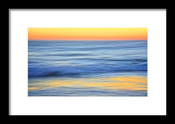 Nature Framed Print featuring the photograph Reflection Gold by Zayne Diamond Photographic