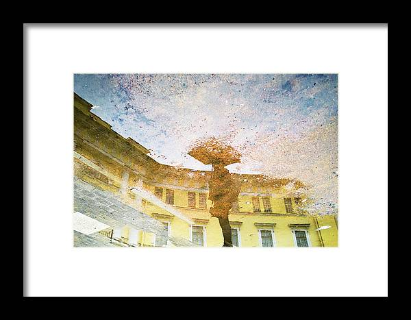 Impressionism Framed Print featuring the photograph Reflection In Water by Yulia Leshchenko