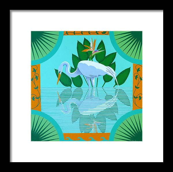Contemporary Framed Print featuring the painting Reflection by James Cordasco