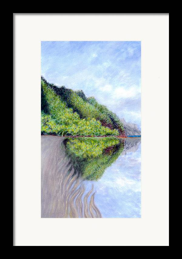 Coastal Decor Framed Print featuring the painting Reflection by Kenneth Grzesik