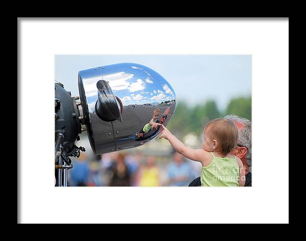 Children Framed Print featuring the photograph Reflection by Larry Keahey