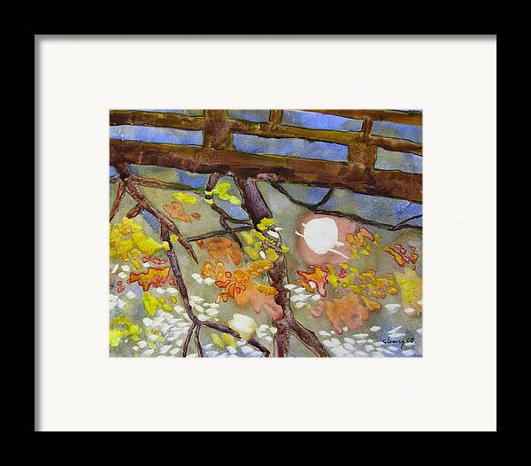 Melody Cleary Framed Print featuring the painting Reflection by Melody Cleary