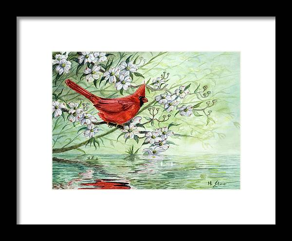 Wildlife Painting Framed Print featuring the painting Reflection by Michael Scherer