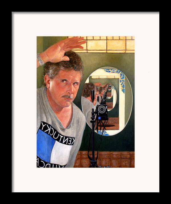 Realism Framed Print featuring the painting Reflection Of Infinity by Donelli DiMaria