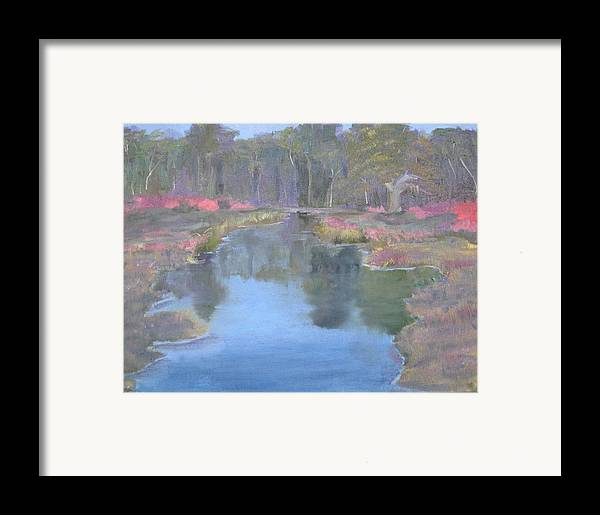 Landscape Framed Print featuring the painting Reflection by Sheryl Sutherland