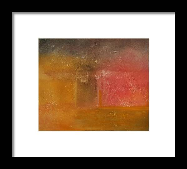 Storm Summer Red Yellow Gold Framed Print featuring the painting Reflection Summer Storm by Jack Diamond