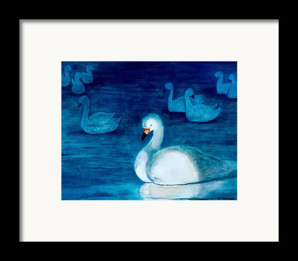 Duck Framed Print featuring the painting Reflections 1 by Jun Jamosmos