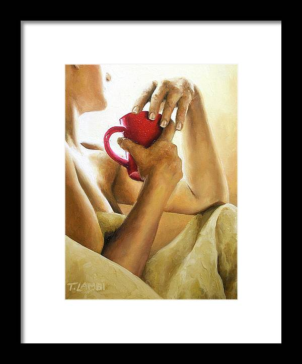 Nude Framed Print featuring the painting Reflections 3 by Trisha Lambi