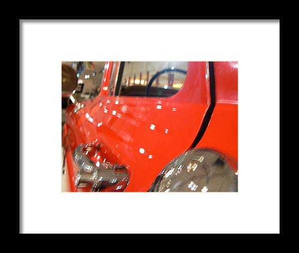 Vehicle Framed Print featuring the photograph Reflections 64 Gm Pickup by Ron Hayes