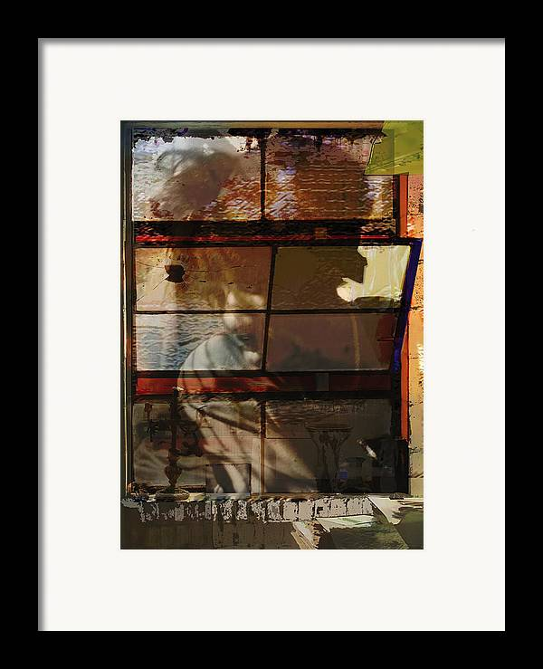 Window Framed Print featuring the digital art Reflections And Memories by Xavier Carter