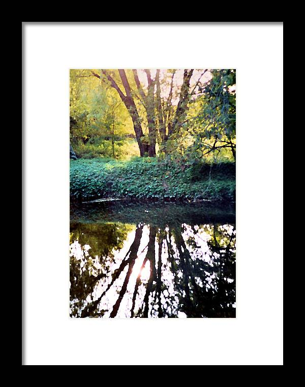 Landscape Framed Print featuring the photograph Reflections At Wyeth by Ellen Lerner ODonnell