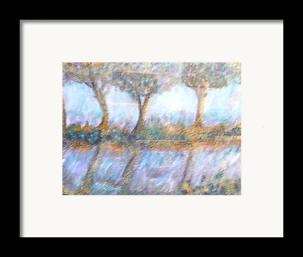 Abstract Framed Print featuring the painting Reflections by BJ Abrams