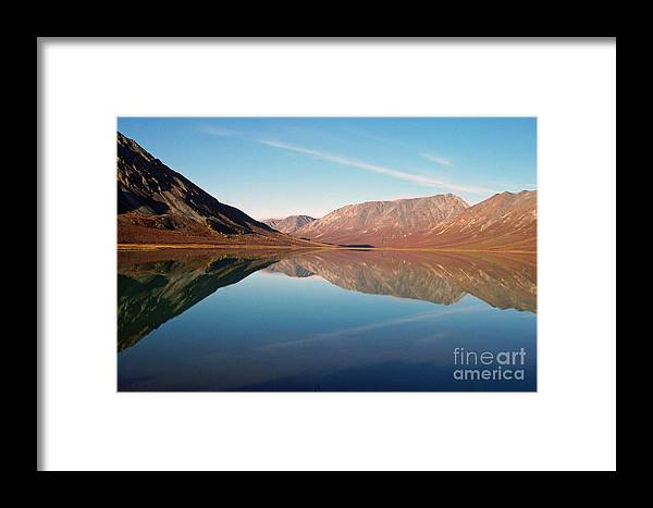 Lake Framed Print featuring the photograph Mountains Reflected On A Beautiful Lake by Denise McAllister