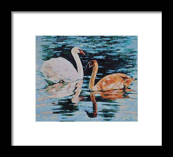 Blue Framed Print featuring the painting Reflections by Iliyan Bozhanov