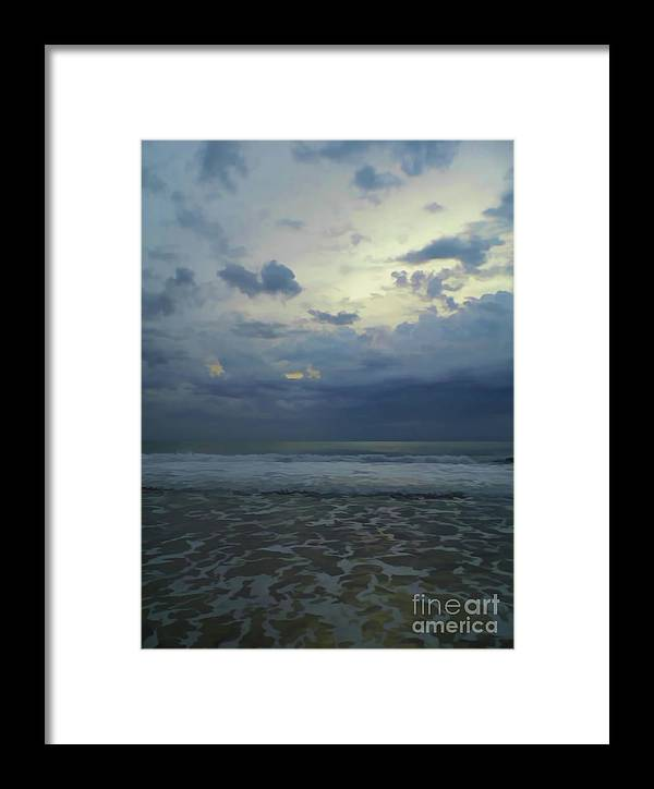 Sunrise Framed Print featuring the photograph Reflections In The Surf by D Hackett