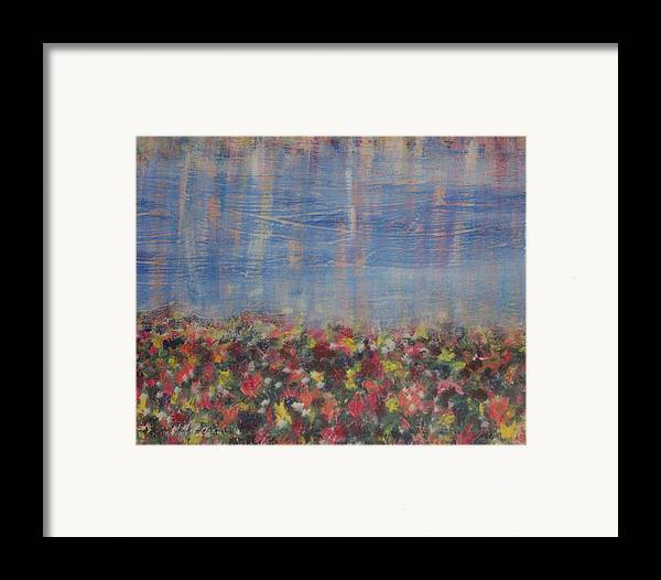 Floral Framed Print featuring the painting Reflections by Jennifer Hernandez